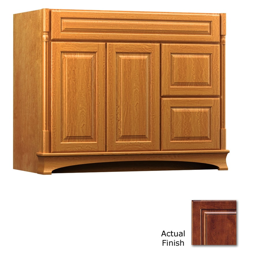 KraftMaid Chambord Montclair Antique Chocolate with Mocha Glaze (Common: 42-in x 18-in) Traditional Bathroom Vanity (Actual: 42-in x 18-in)