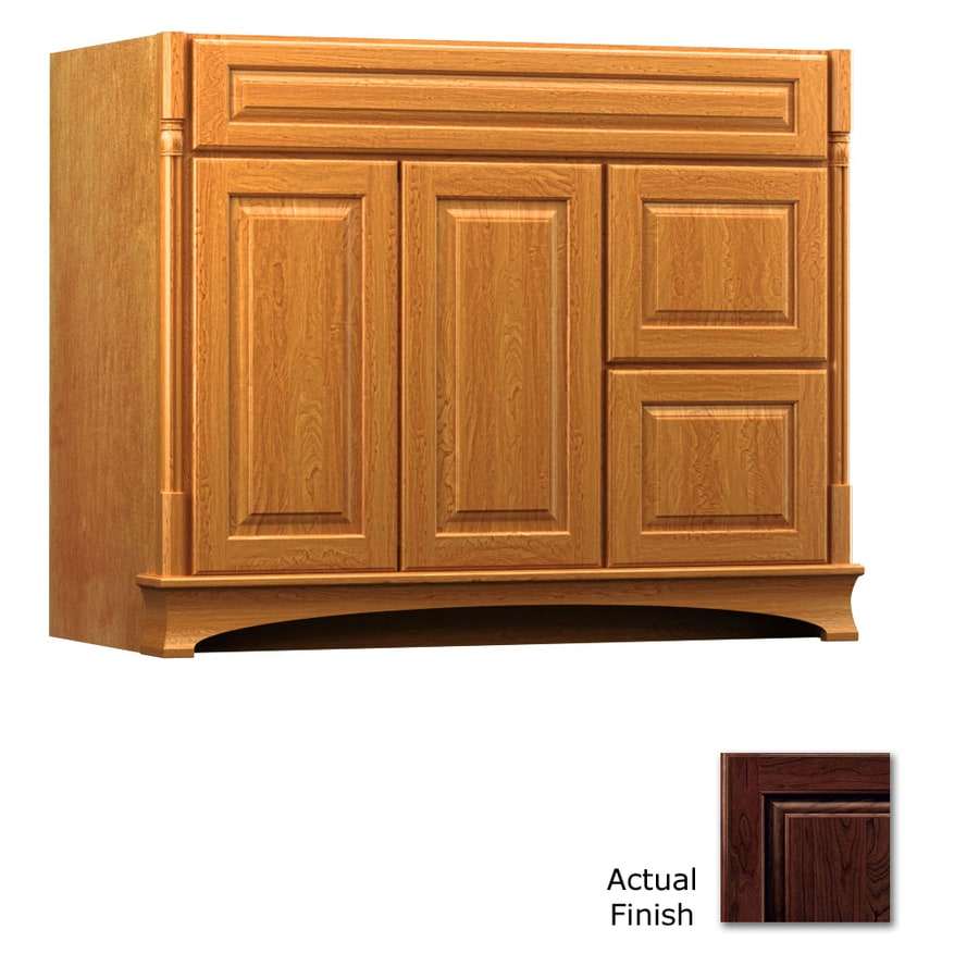 KraftMaid Kaffe Bathroom Vanity (Common: 42-in x 18-in; Actual: 42-in x 18-in)