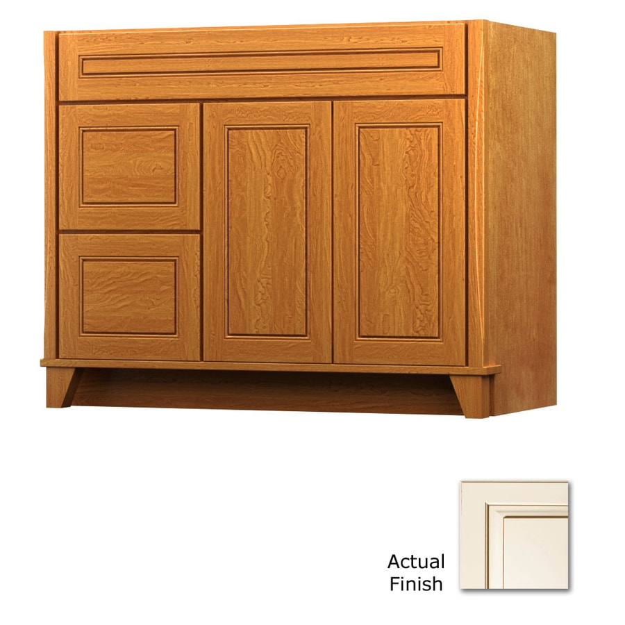 KraftMaid Canvas with Cocoa Glaze 42-in Contemporary Bathroom Vanity