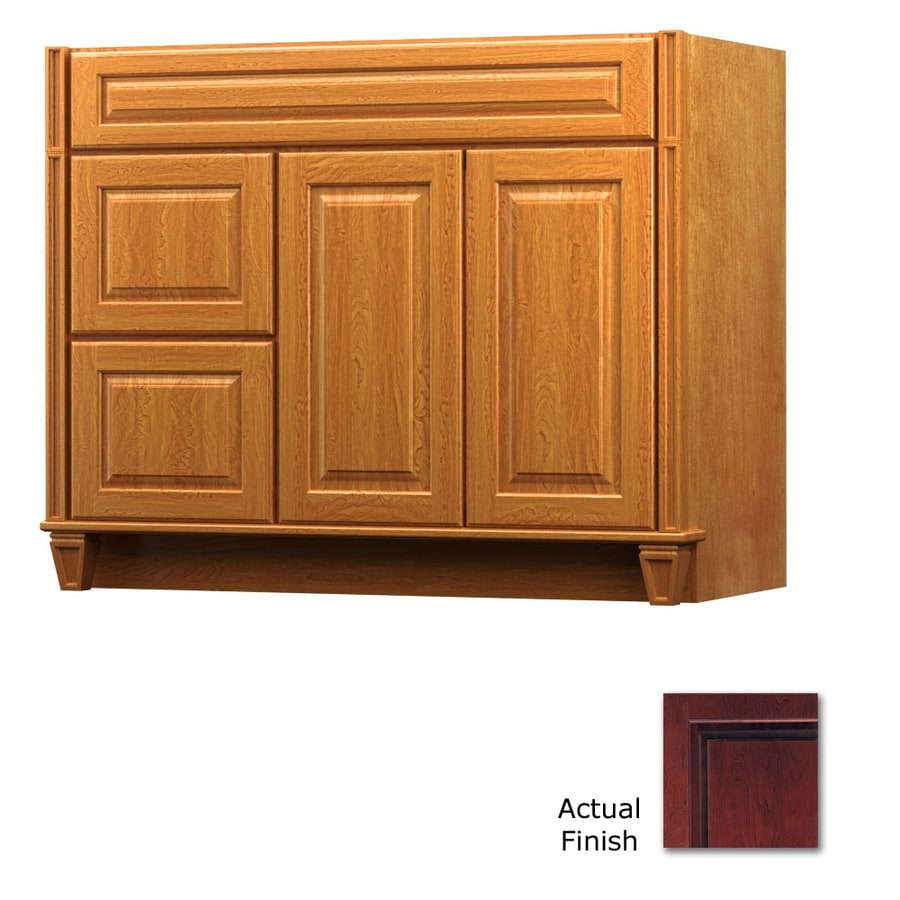 KraftMaid Key Biscayne Montclair Cabernet (Common: 42-in x 21-in) Traditional Bathroom Vanity (Actual: 42-in x 21-in)