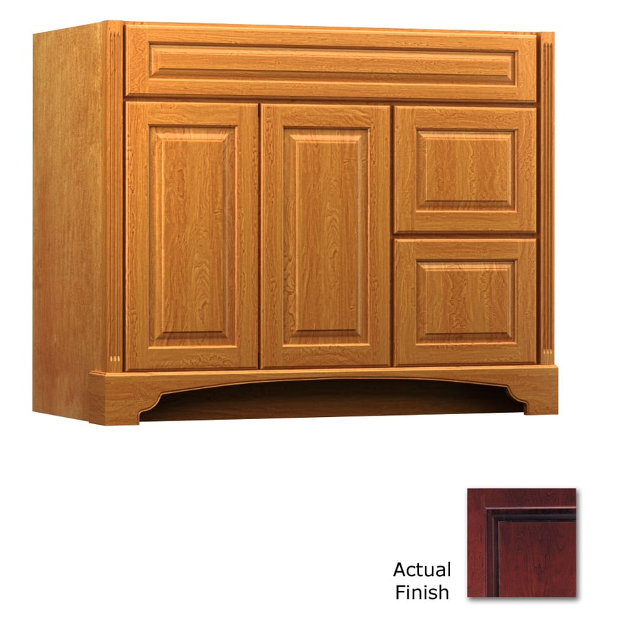 KraftMaid Savoy Montclair Cabernet (Common: 42-in x 21-in) Traditional Bathroom Vanity (Actual: 42-in x 21-in)