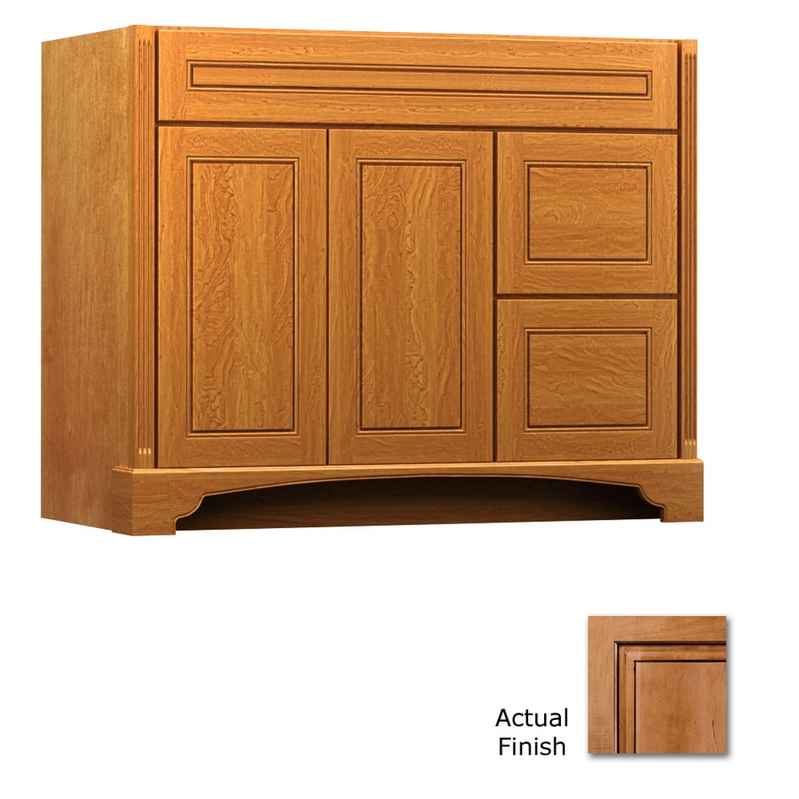 Shop Kraftmaid Ginger With Sable Glaze Bathroom Vanity Common 42 In X 21 In Actual 42 In X