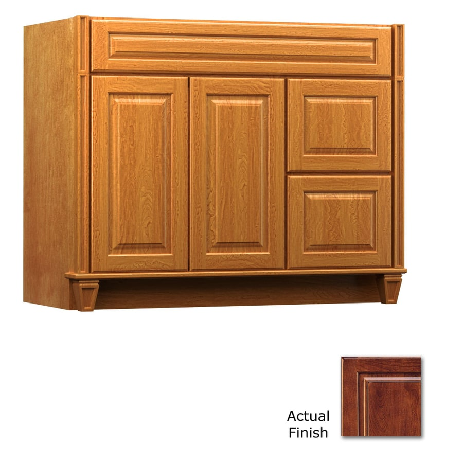 KraftMaid Key Biscayne Montclair Antique Chocolate with Mocha Glaze (Common: 42-in x 21-in) Traditional Bathroom Vanity (Actual: 42-in x 21-in)