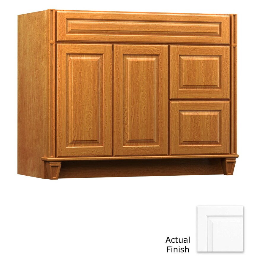 KraftMaid Key Biscayne Montclair Dove White (Common: 42-in x 21-in) Traditional Bathroom Vanity (Actual: 42-in x 21-in)