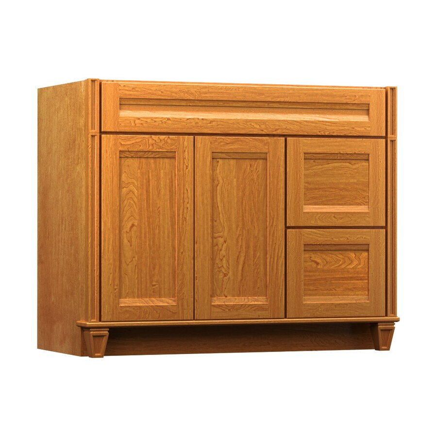 Shop Kraftmaid Praline Bathroom Vanity Common 42 In X 21 In Actual 42 In X 21 In At