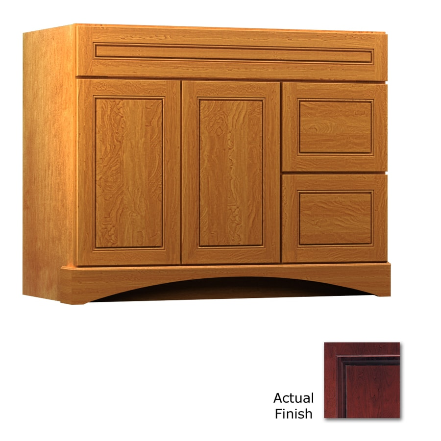 KraftMaid Summerfield Provence Cabernet (Common: 42-in x 21-in) Casual Bathroom Vanity (Actual: 42-in x 21-in)