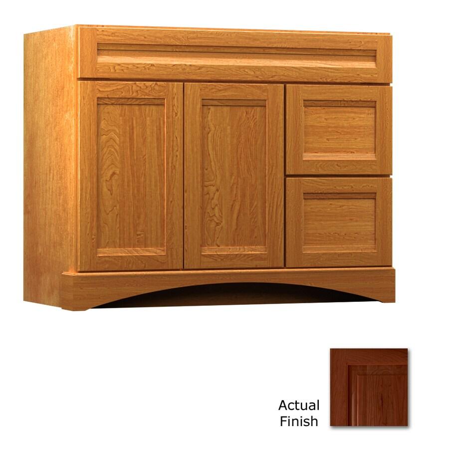 KraftMaid Summerfield Sonata Autumn Blush (Common: 42-in x 21-in) Casual Bathroom Vanity (Actual: 42-in x 21-in)