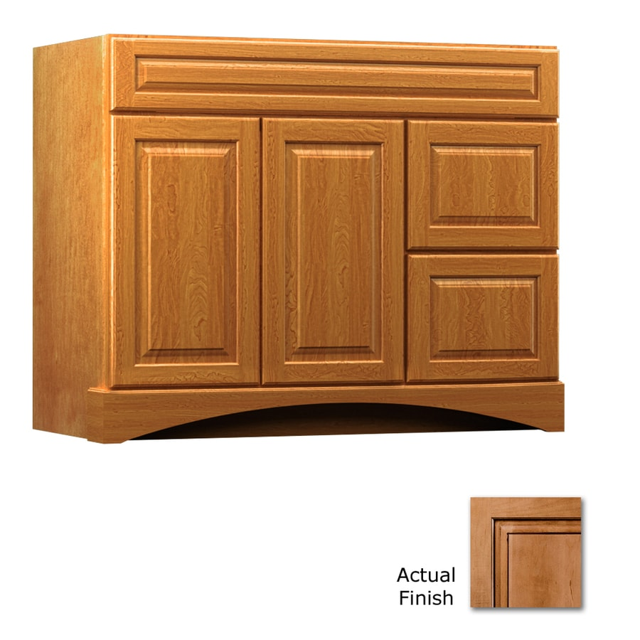 KraftMaid Summerfield Montclair Ginger with Sable Glaze (Common: 42-in x 21-in) Casual Bathroom Vanity (Actual: 42-in x 21-in)