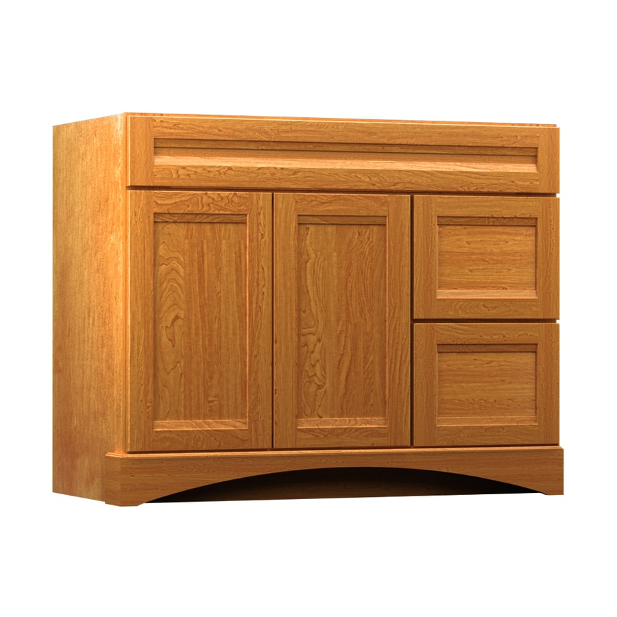 Shop kraftmaid praline bathroom vanity common 42 in x 21 Kraftmaid bathroom cabinets
