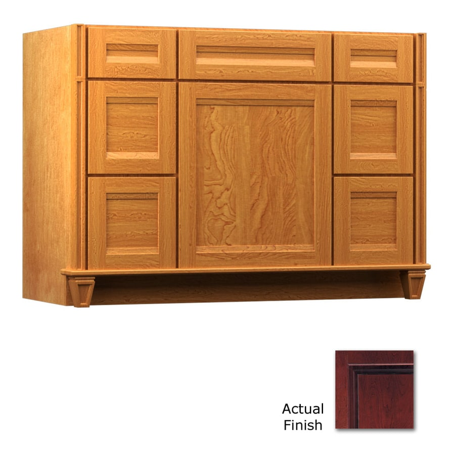 Shop Kraftmaid Cabernet Bathroom Vanity Common 48 In X 18 In Actual 48 In X 18 In At