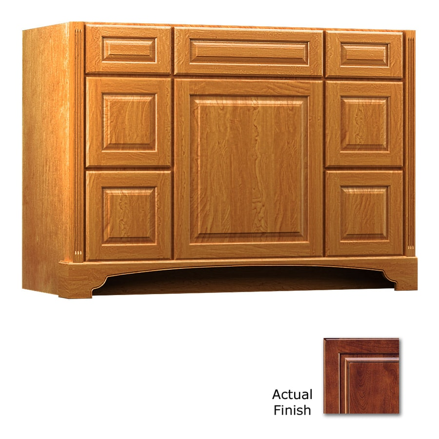 KraftMaid Savoy Montclair Antique Chocolate with Mocha Glaze (Common: 48-in x 18-in) Traditional Bathroom Vanity (Actual: 48-in x 18-in)