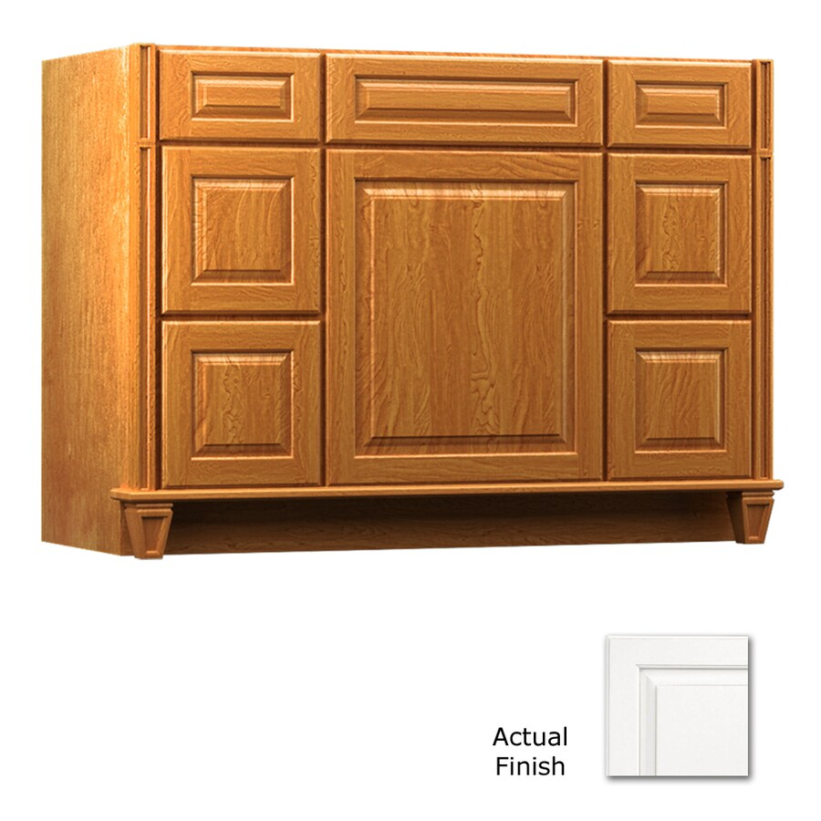 KraftMaid Key Biscayne Montclair Dove White (Common: 48-in x 18-in) Traditional Bathroom Vanity (Actual: 48-in x 18-in)