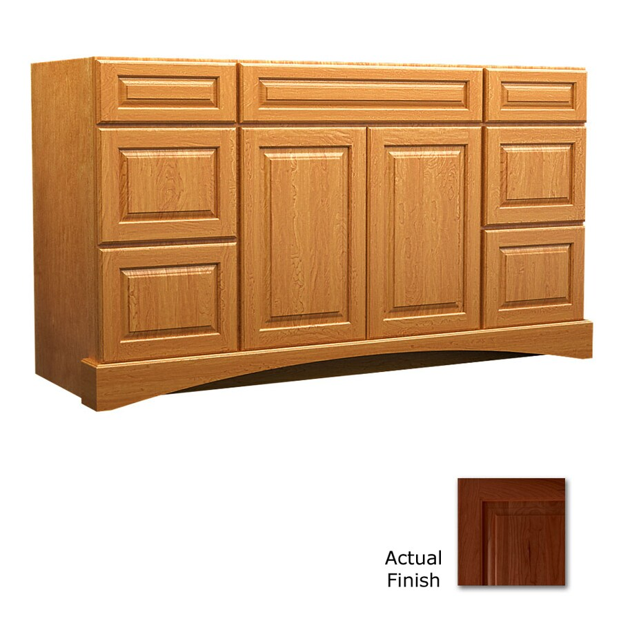 KraftMaid Autumn Blush Bathroom Vanity (Common: 48-in x 21-in; Actual: 48-in x 21-in)