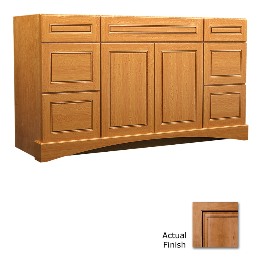 Shop Kraftmaid Ginger With Sable Glaze Bathroom Vanity Common 48 In X 21 In Actual 48 In X