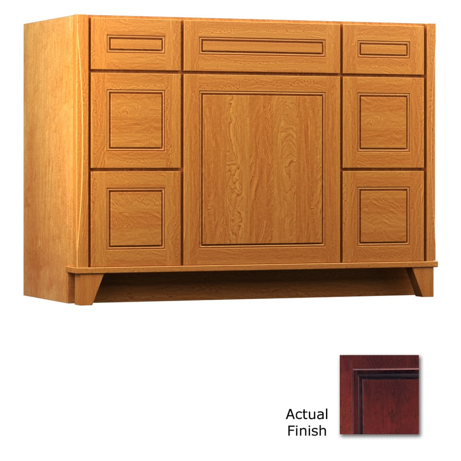 KraftMaid Tribecca Provence Cabernet (Common: 48-in x 21-in) Contemporary Bathroom Vanity (Actual: 48-in x 21-in)