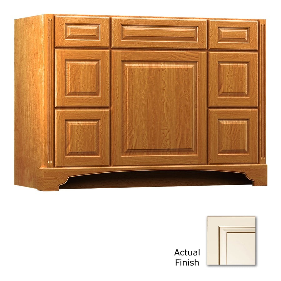 KraftMaid Canvas with Cocoa Glaze Bathroom Vanity (Common: 48-in x 21-in; Actual: 48-in x 21-in)