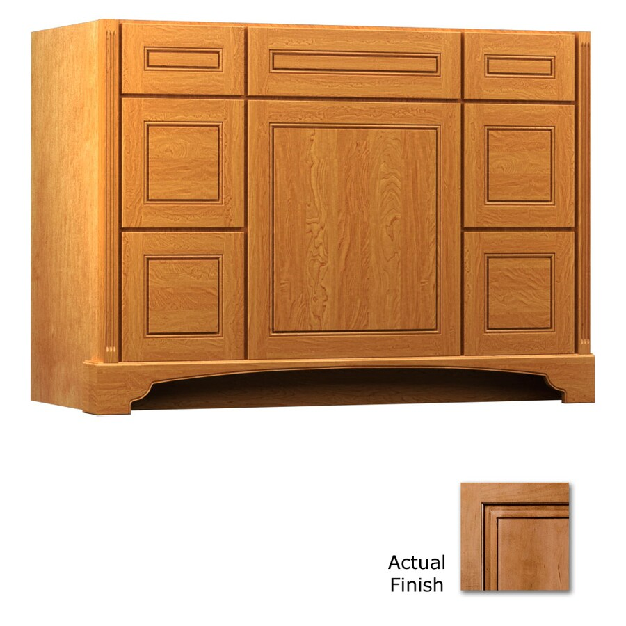 KraftMaid Ginger with Sable Glaze Bathroom Vanity (Common: 48-in x 21-in; Actual: 48-in x 21-in)