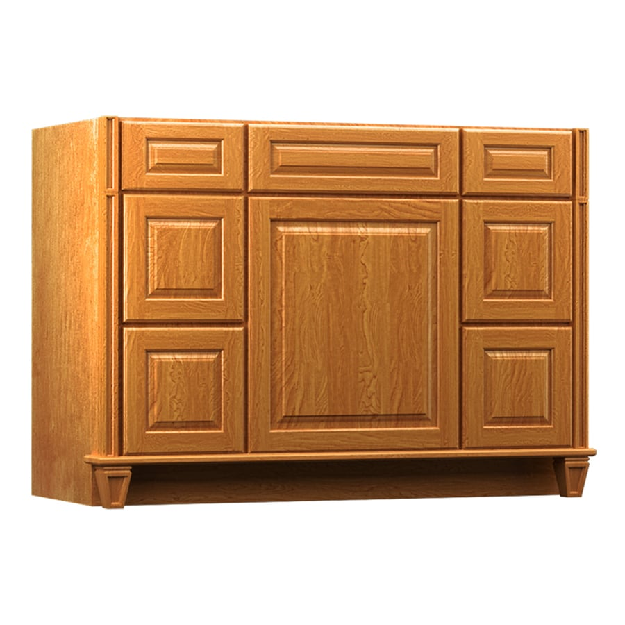 Shop Kraftmaid Praline Bathroom Vanity Common 48 In X 21 In Actual 48 In X 21 In At