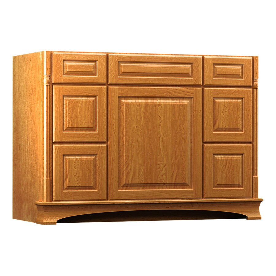 KraftMaid Chambord Montclair Praline (Common: 48-in x 21-in) Traditional Bathroom Vanity (Actual: 48-in x 21-in)