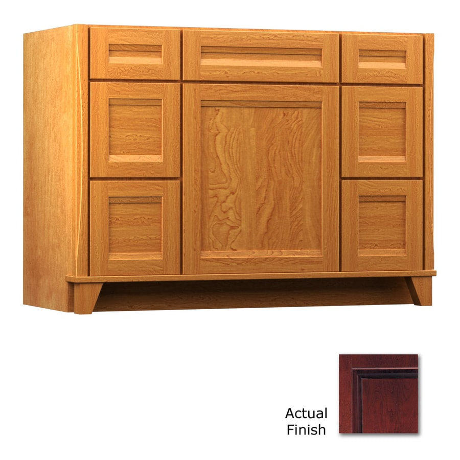 KraftMaid Cabernet Bathroom Vanity (Common: 48-in x 21-in; Actual: 48-in x 21-in)