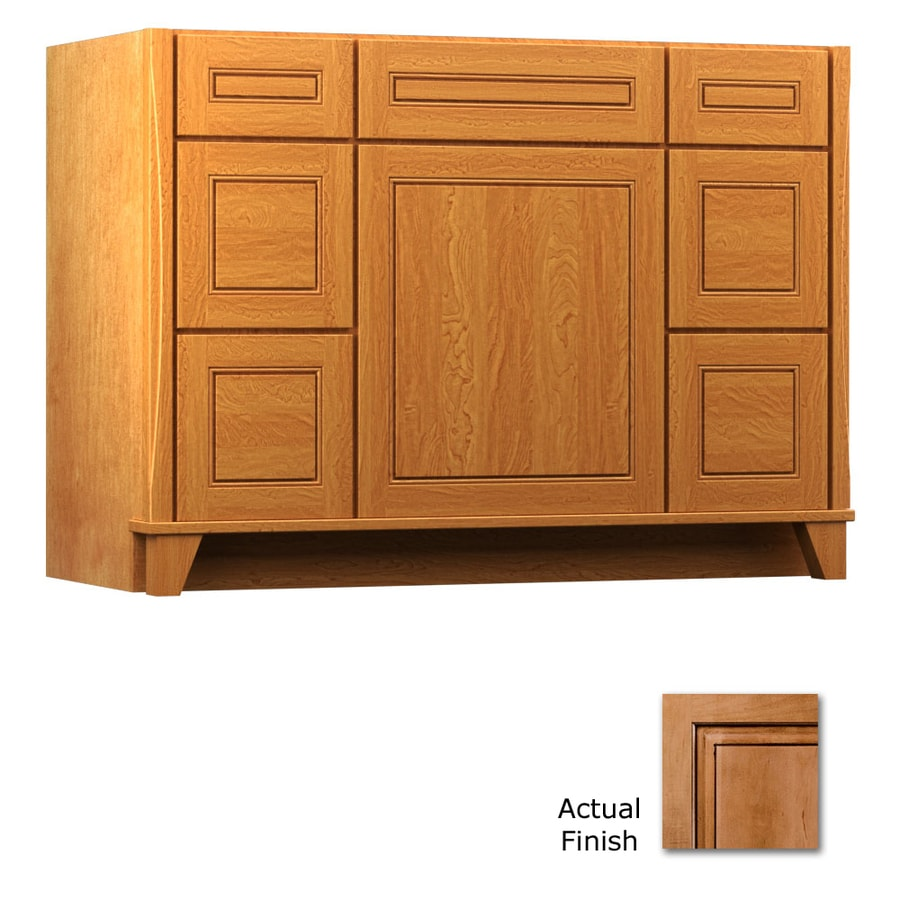 KraftMaid Ginger with Sable Glaze 48-in Contemporary Bathroom Vanity
