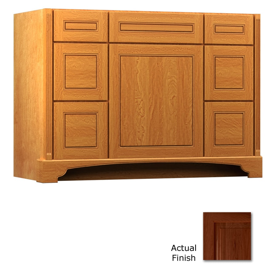 KraftMaid Savoy Provence Autumn Blush (Common: 48-in x 21-in) Traditional Bathroom Vanity (Actual: 48-in x 21-in)