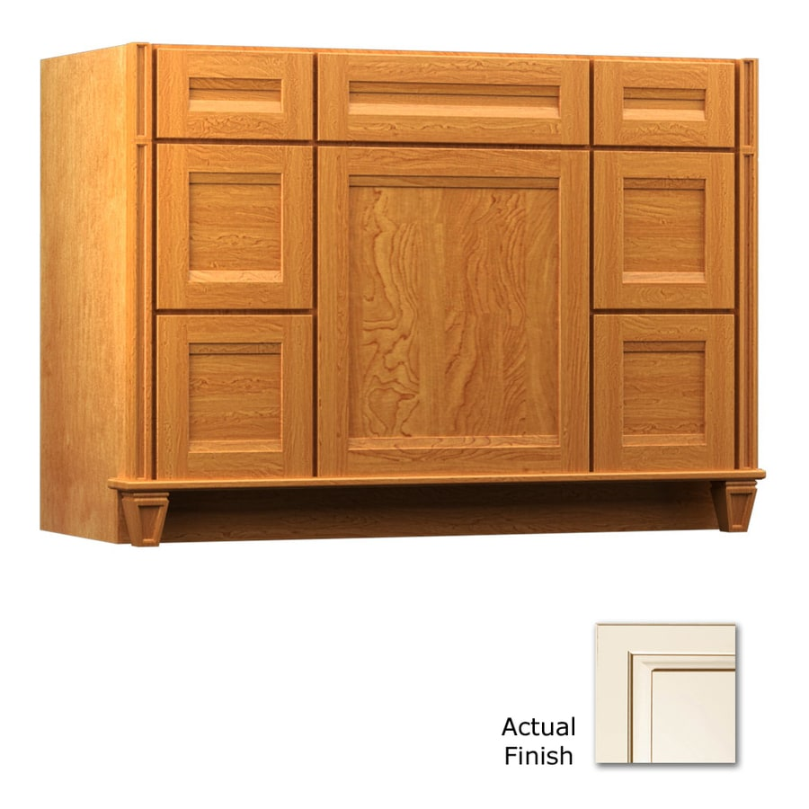 KraftMaid Praline 48-in Traditional Bathroom Vanity