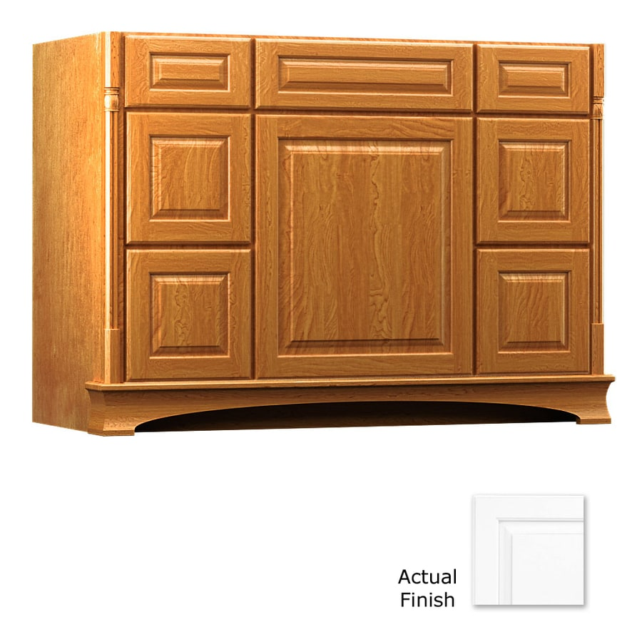 KraftMaid Chambord Montclair Dove White (Common: 48-in x 21-in) Traditional Bathroom Vanity (Actual: 48-in x 21-in)