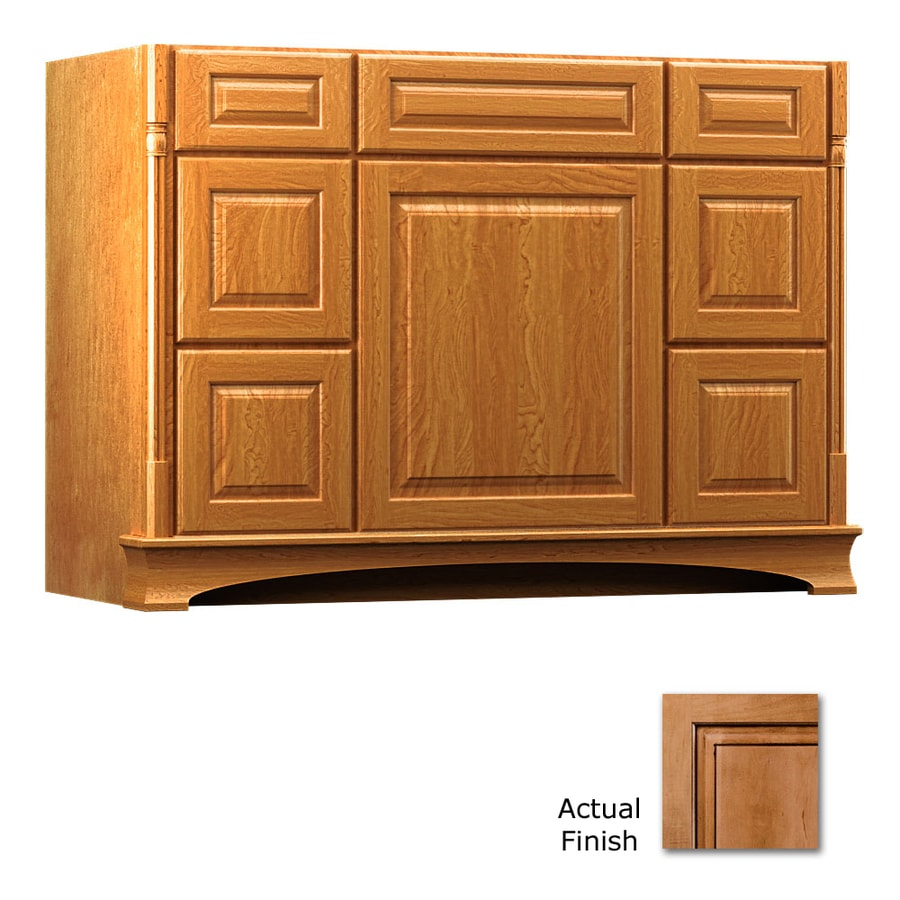 KraftMaid Chambord Montclair Ginger with Sable Glaze (Common: 48-in x 21-in) Traditional Bathroom Vanity (Actual: 48-in x 21-in)