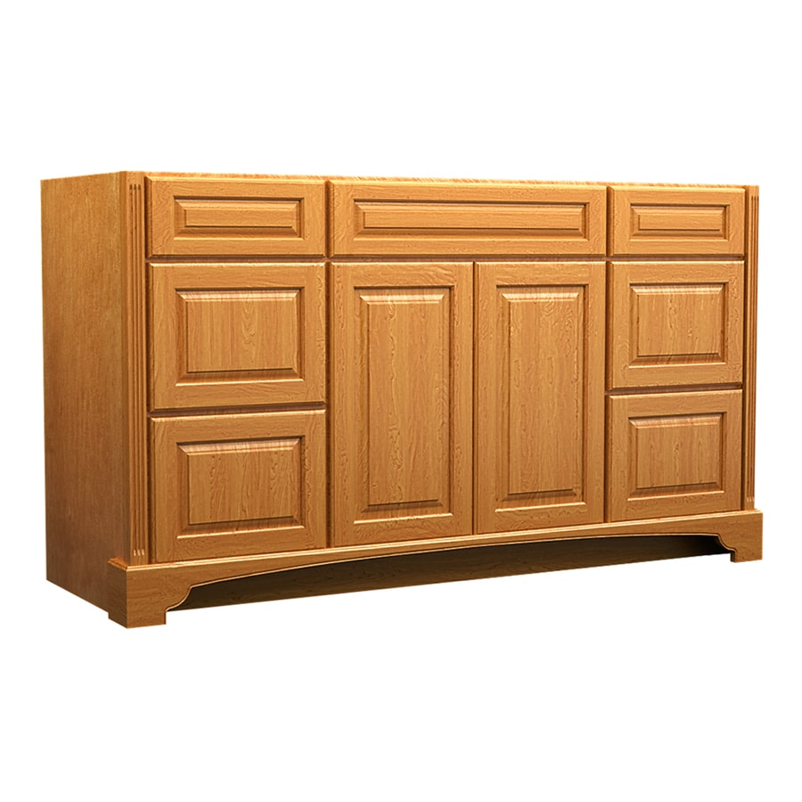 KraftMaid Savoy Montclair Praline (Common: 60-in x 18-in) Traditional Bathroom Vanity (Actual: 60-in x 18-in)