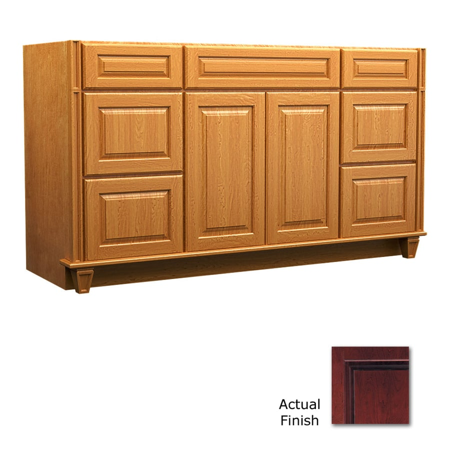KraftMaid Key Biscayne Montclair Cabernet (Common: 60-in x 18-in) Traditional Bathroom Vanity (Actual: 60-in x 18-in)