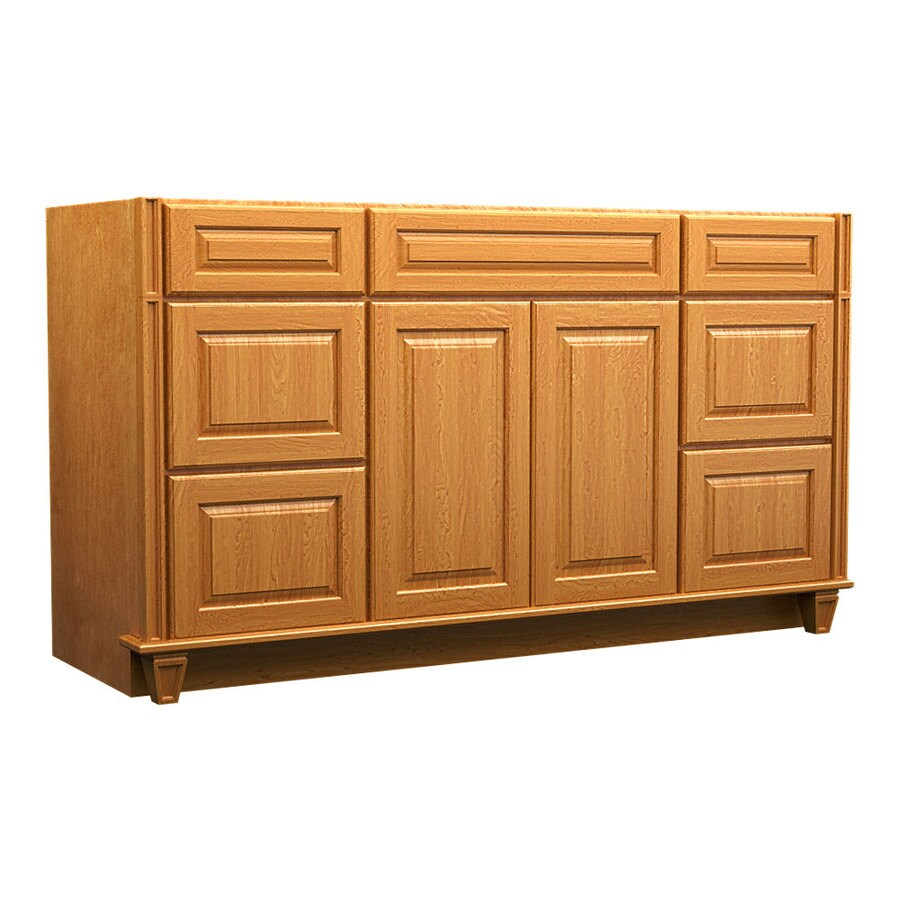 KraftMaid Praline Bathroom Vanity (Common: 60-in x 18-in; Actual: 60-in x 18-in)
