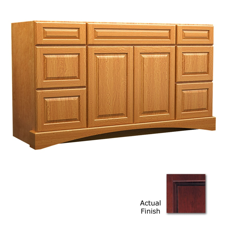 KraftMaid Cabernet Bathroom Vanity (Common: 60-in x 21-in; Actual: 60-in x 21-in)
