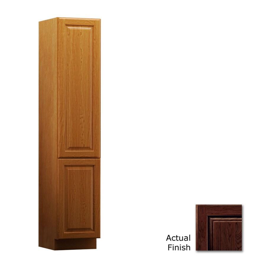 KraftMaid 15-in W x 88.5-in H x 18-in D Kaffe Cherry Freestanding Linen Cabinet