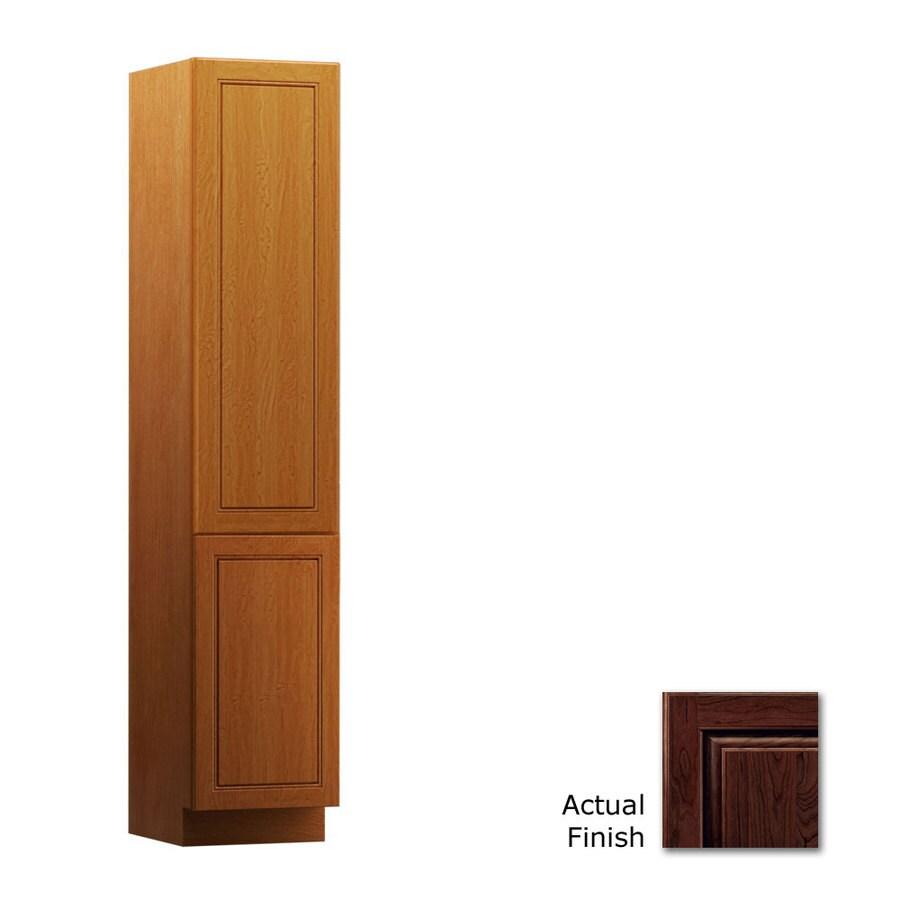KraftMaid 15-in W x 88.5-in H x 21-in D Kaffe Cherry Freestanding Linen Cabinet