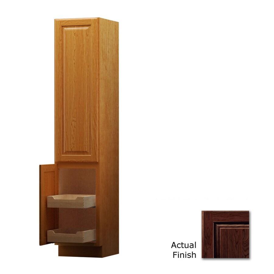 KraftMaid 18-in W x 88.5-in H x 18-in D Kaffe Cherry Freestanding Linen Cabinet