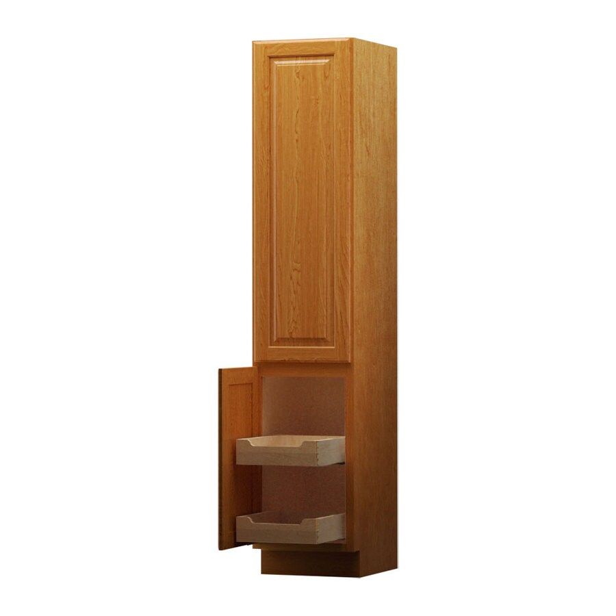 KraftMaid Montclair 18-in W x 88.5-in H x 21-in D Maple Linen Cabinet