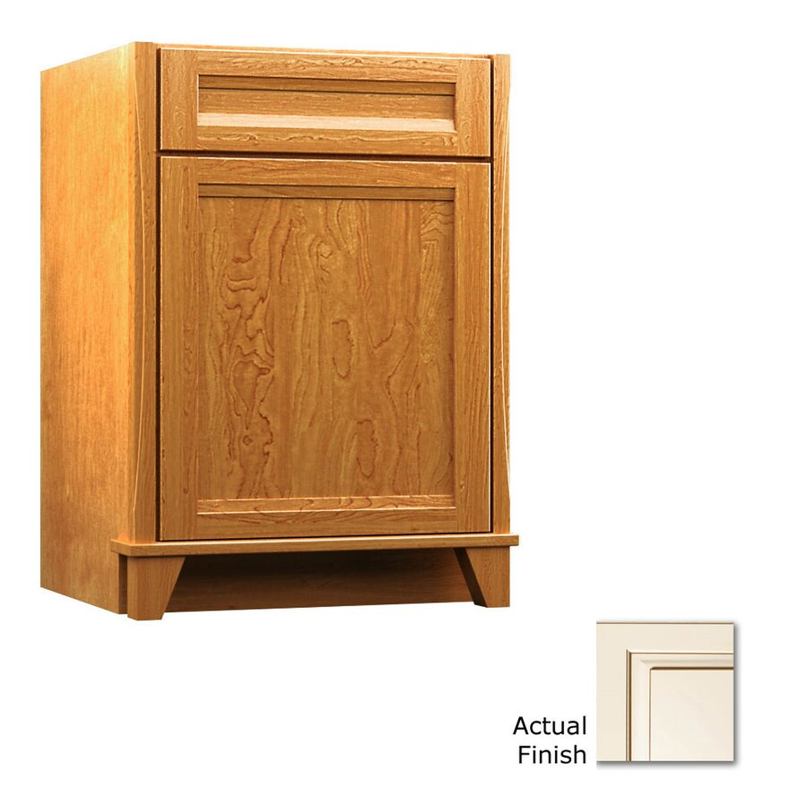 KraftMaid Canvas with Cocoa Glaze Bathroom Vanity (Common: 24-in x 21-in; Actual: 24-in x 21-in)