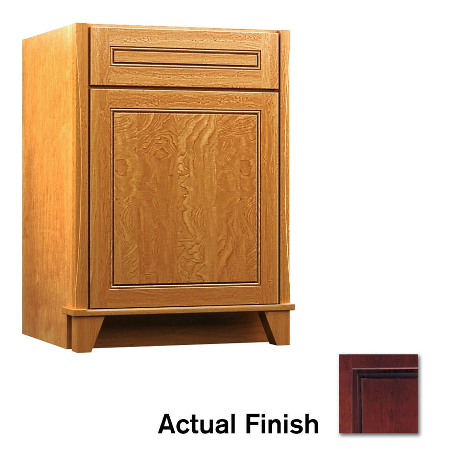 KraftMaid Tribecca Provence Cabernet (Common: 24-in x 21-in) Contemporary Bathroom Vanity (Actual: 24-in x 21-in)