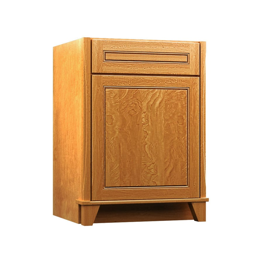 KraftMaid Tribecca Provence Praline (Common: 24-in x 21-in) Contemporary Bathroom Vanity (Actual: 24-in x 21-in)
