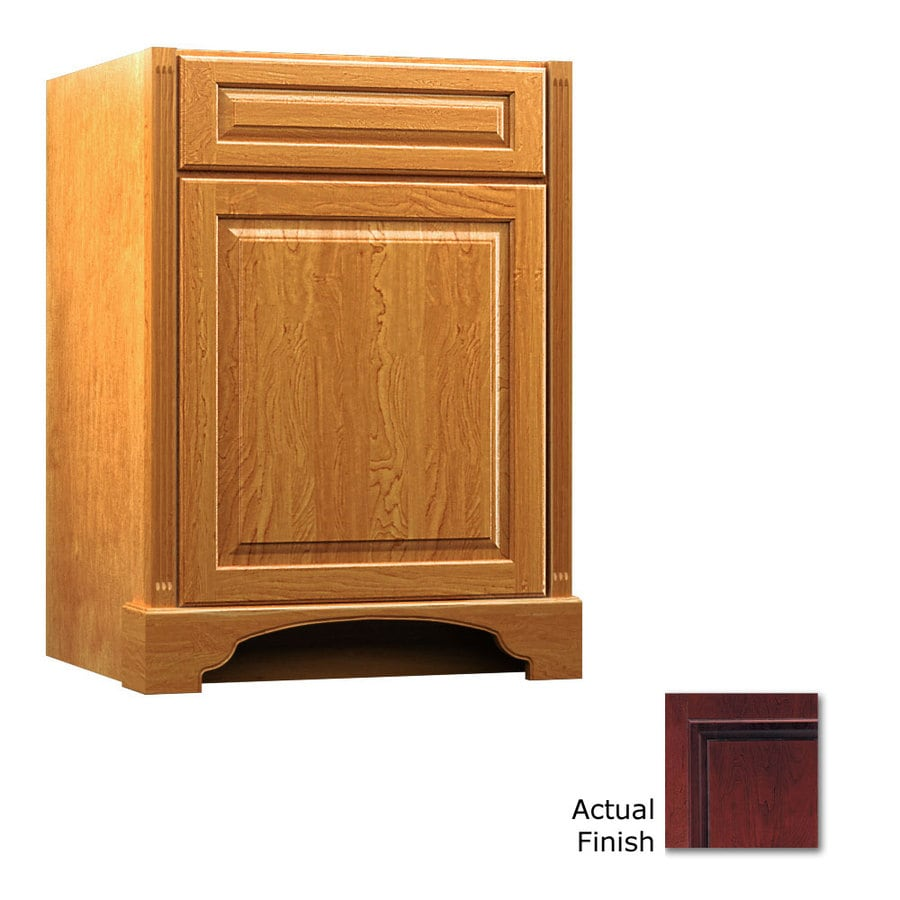 KraftMaid Savoy Montclair Cabernet (Common: 24-in x 21-in) Traditional Bathroom Vanity (Actual: 24-in x 21-in)