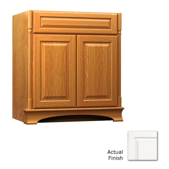 Kraftmaid 30 In Dove White Bathroom Vanity Cabinet In The Bathroom Vanities Without Tops Department At Lowes Com