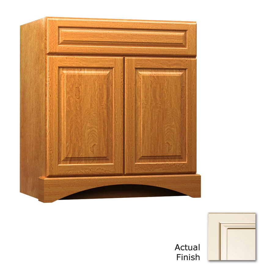 KraftMaid Summerfield Montclair Canvas with Cocoa Glaze (Common: 30-in x 21-in) Casual Bathroom Vanity (Actual: 30-in x 21-in)