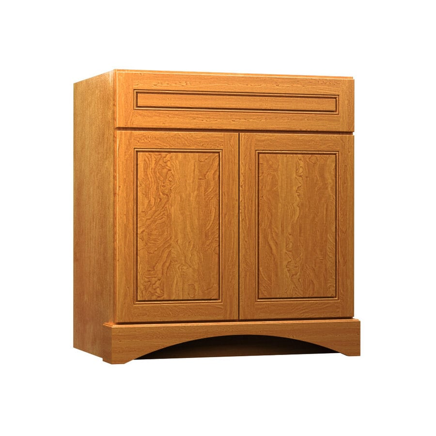 shop kraftmaid praline bathroom vanity common 30 in x 21 in actual