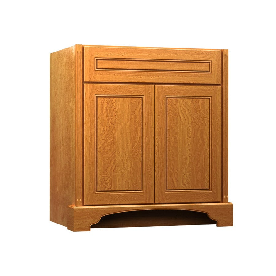 Shop kraftmaid praline bathroom vanity common 36 in x 21 for Bathroom cabinets kraftmaid