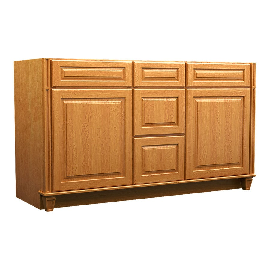 KraftMaid Praline 60-in Traditional Bathroom Vanity