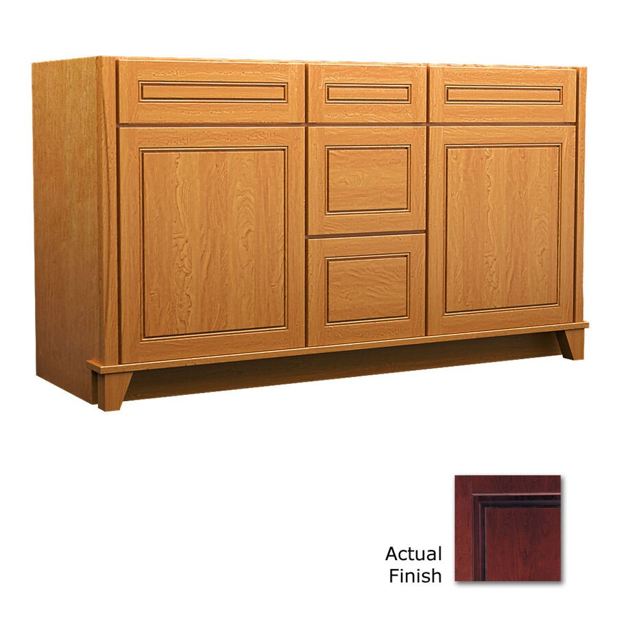 KraftMaid Tribecca Provence Cabernet (Common: 60-in x 21-in) Contemporary Bathroom Vanity (Actual: 60-in x 21-in)