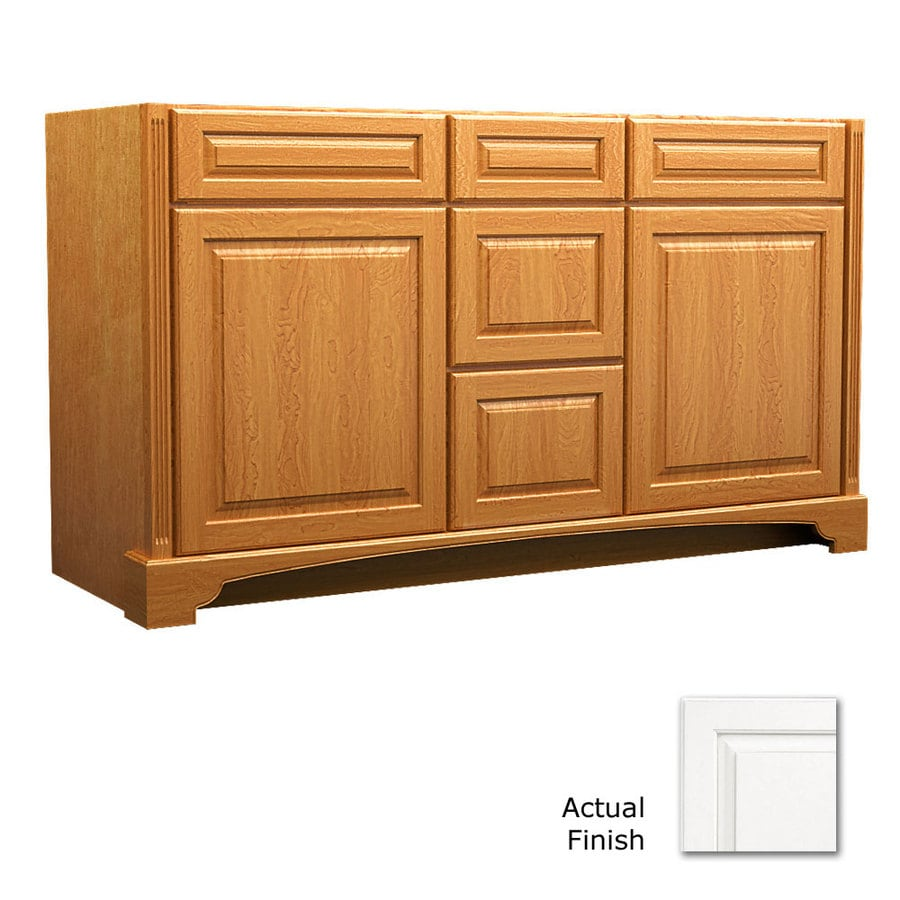 KraftMaid Savoy Montclair Dove White (Common: 60-in x 21-in) Traditional Bathroom Vanity (Actual: 60-in x 21-in)