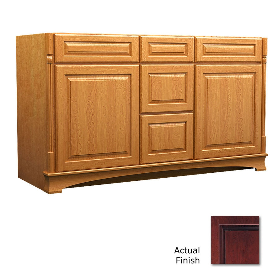 KraftMaid Chambord Montclair Cabernet (Common: 60-in x 21-in) Traditional Bathroom Vanity (Actual: 60-in x 21-in)