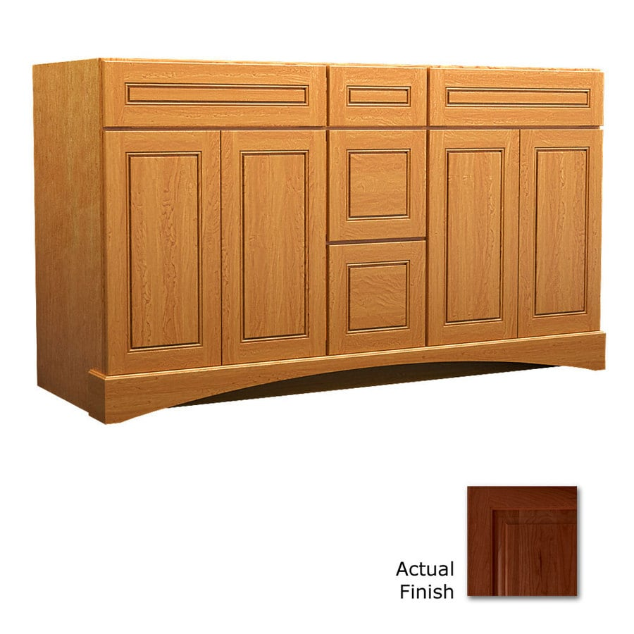 KraftMaid Summerfield Provence Autumn Blush (Common: 60-in x 21-in) Casual Bathroom Vanity (Actual: 60-in x 21-in)
